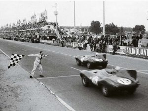 The Jaguar D-type won Le Mans for the second time.