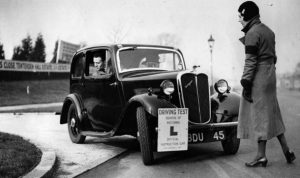 Driving tests, which had been suspended during World War II, were resumed.