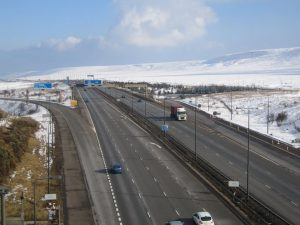 Britain's highest motorway, the M62 around J22, opened. The M62 also featured the first section of heated road surface in Britain and is part of the unsigned Euro-route E20 Shannon to Petersburg.