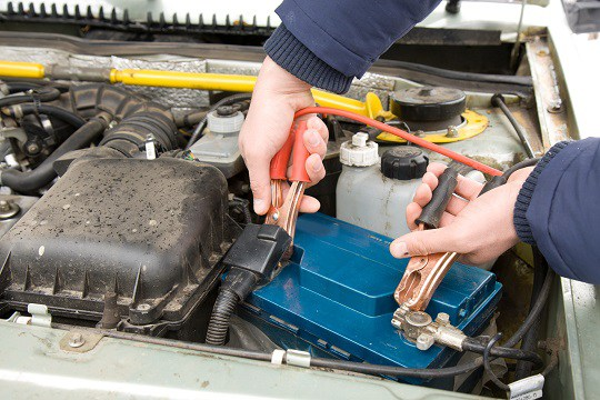 Jumping Car Battery Sparks