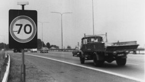 The national 70 mph limit was introduced in Great Britain. Introduced as an experiment in 1965, it was made permanent. It is not referred to as the '70 mph' limit, but as 'the national speed limit', permitting future changes without the need for major new legislation.