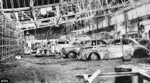 Brown Lane plant was devastated by a fire in 1957