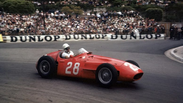 1956 Monaco Grand Prix, Monte Carlo Stirling Moss (Maserati 250F) 1st position Action World copyright: LAT Photographic Tel: +44 (0) 208 251 3000 Fax: +44 (0) 208 251 3001 Somerset House, Somerset Road, Teddington, Middlesex TW11 8RU, United Kingdom Ref:  56MON02