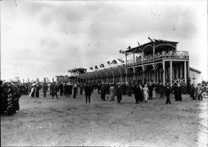 Grandstands at the 1912 French Grand Prix at Dieppe