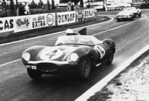 1956 Le Mans 24 hour: Ron Flockhart and Ninian Sanderson win in a Jaguar D-Type