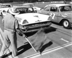 Tim Flock on the starting grid - 1956 Road America