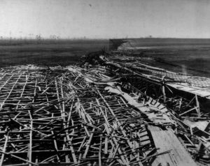 Remains of the hurricane-hit Fulford Speedway - 1926
