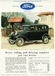 Ford Model A advertisement c 1928